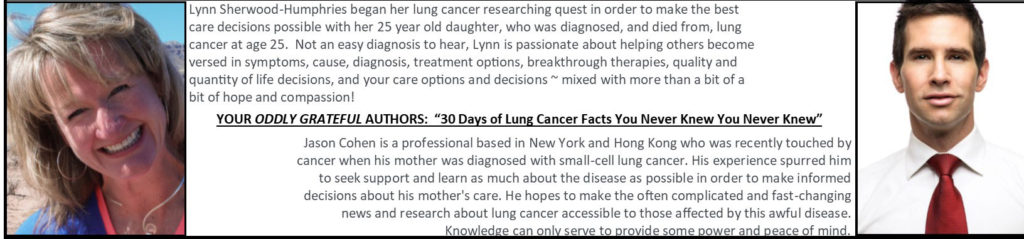 Lynn Sherwood and Jason Cohen - authors of 30 Days of Lung Cancer Facts You Never Knew You Never Knew
