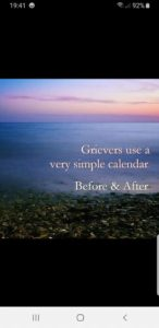 """Grief. """"Before and after."""""""
